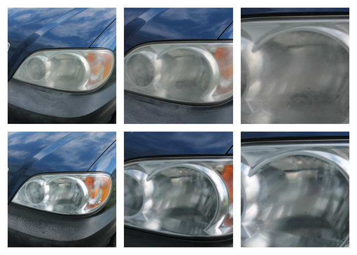 Cleaning Headlights with Bug Repellent